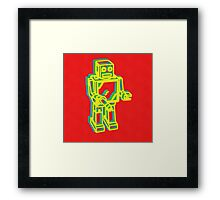 Robot Pop Art Framed Print