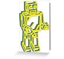 Robot Pop Art Graphic Greeting Card
