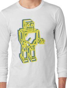 Robot Pop Art Graphic Long Sleeve T-Shirt