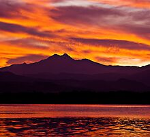 Twins Peak Sunset by Bo Insogna