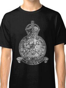 75(NZ) Squadron RAF Crest - Vintage White Classic T-Shirt