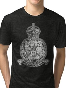 75(NZ) Squadron RAF Crest - Vintage White Tri-blend T-Shirt