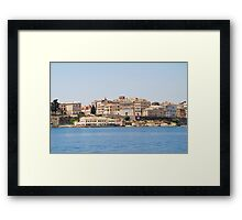 Kerkira harbour, Corfu Framed Print