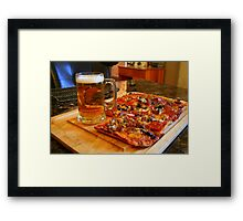 Wisconsin Game Style Framed Print
