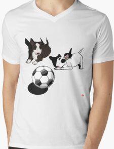 ENGLISH BULL-TERRIER Mens V-Neck T-Shirt