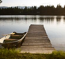 Row Boat on Savage Lake, MT by Peter Kearns