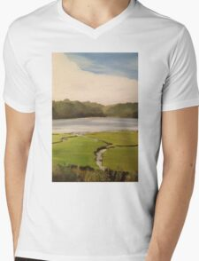 Devoran Creek Cornwall  Mens V-Neck T-Shirt