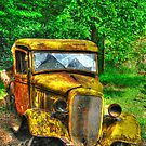 old lumber truck In HDR by Jeannie Peters
