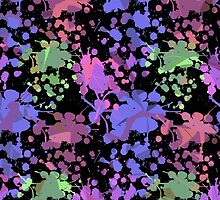 Paint Splashed Pattern by Vickie Emms