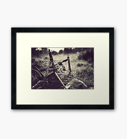 Obstacles do not exist to be surrendered to, but only to be broken.  Framed Print