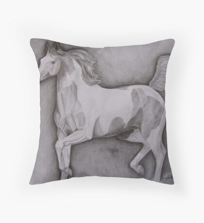 Trotting Paint Throw Pillow