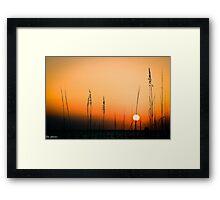 Sunset over the Gulf Framed Print