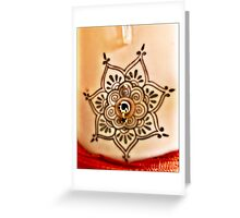 Belly Tat and jewel  Greeting Card