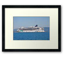Norwegian Jade liner, Corfu Framed Print