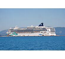 Norwegian Jade liner, Corfu Photographic Print