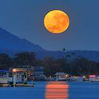 Moonset over Noosa River by Adam Gormley