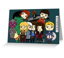 Avengers Age of Ultron chibi Greeting Card