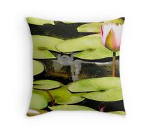 Water Lily Series I Throw Pillow