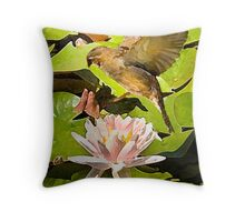 Water Lily Series III Throw Pillow