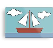 Simpsons Sailboat Painting Metal Print