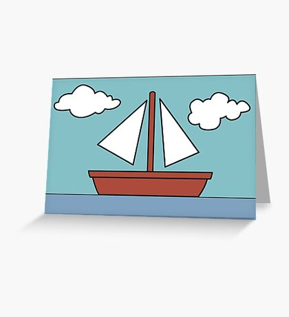 Simpsons Sailboat Painting Greeting Card