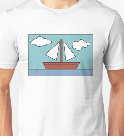 Simpsons Sailboat Painting Unisex T-Shirt