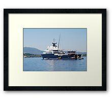 Le Grand Bleu superyacht, Corfu Framed Print