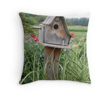 """Bird House"" Throw Pillow"