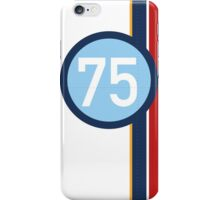 '75' Racing number with RAF roundel colour stripes iPhone Case/Skin