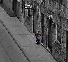 Visiting Neighbors In Cuenca Ecuador by Al Bourassa