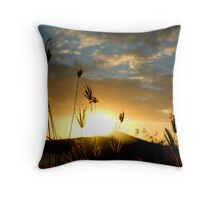Delicate Grass Throw Pillow