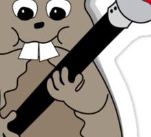 Beaver T Sticker