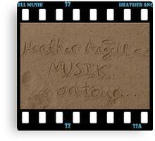 Heather Angell Musik - On Tour Canvas Print