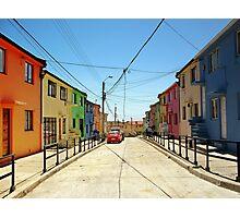 Multicolor facades, Valparaiso (Chile) Photographic Print