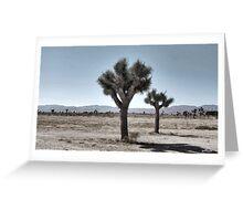 GRAY DESERT LAND Greeting Card