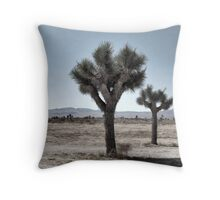 GRAY DESERT LAND Throw Pillow
