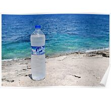 Water bottle, Arkoudaki beach, Paxos Poster