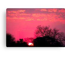 "THE ""HALO"" SUNSET Canvas Print"