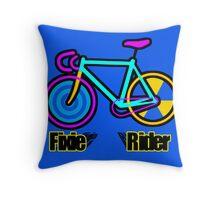 Fixie Rider Throw Pillow