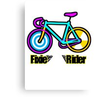 Fixie Rider Canvas Print