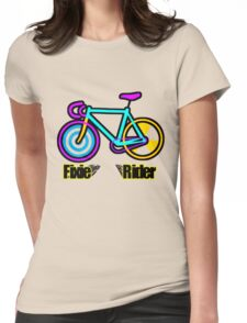 Fixie Rider Womens Fitted T-Shirt