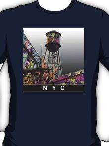 NYC graffiti water tower T-Shirt