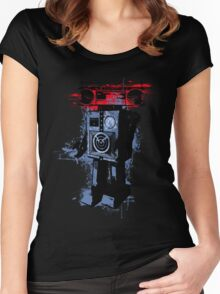 Soundroid Women's Fitted Scoop T-Shirt