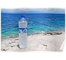 Water bottle at Arkoudaki, Paxos Poster