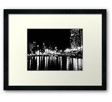 city in black & white... Framed Print