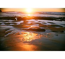 red gold sandy morning Photographic Print