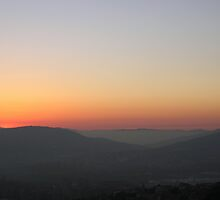 Sunset's afterglow over central Umbria, Italy by Philip Mitchell