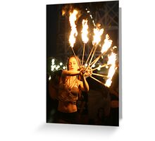 Fire dance 2 Greeting Card