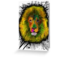 OCD LION HEAD Greeting Card