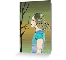 Earth Girl Greeting Card
